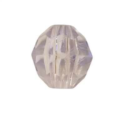 12mm Crystal Faceted Plastic Beads, 100 ct Bag