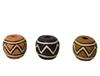 20mm Round Tribal Resin Beads 8ct Bag