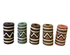 24mm Tube Tribal Resin Beads 4ct Bag