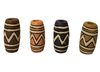 24mm Column Tribal Resin Beads 8ct Bag