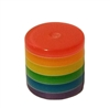 10mm Column Striped Resin Rainbow Beads 100ct Bag