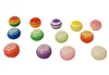 12mm Round Striped Resin Rainbow Beads 100ct Bag