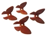 Set of 4 Autumn Plastic Butterfly Beads