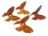 Set of 4 Autumn Speckled Plastic Butterfly Beads