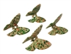 Set of 4 Green Speckled Plastic Butterfly Beads