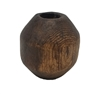 42mm Rustic Swirl Burnt Wood Beveled Bead
