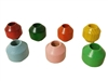 28MM Beveled Wood Beads 4 ct. Bag