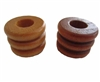 21X28MM Fancy Grooved Wood Beads 4 ct. Bag