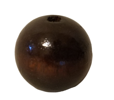25MM Round Walnut Wood Beads (Small Hole) 8 ct. Bag