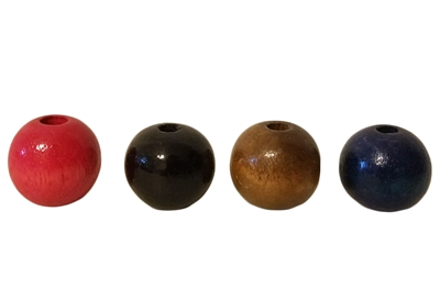 20MM Round Wood Beads (Small Hole) 8 ct. Bag