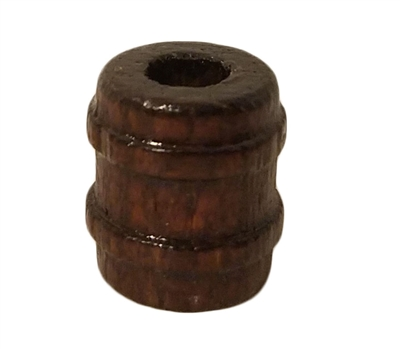 15MM Walnut Barrel Wood Beads 12 ct. Bag