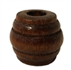 25MM x 31MM Walnut Carved Barrel Wood Beads 4ct. Bag