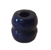 10MM Blue Grooved Barrel Wood Beads 16ct Bag