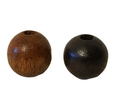 18MM Round Wood Beads (Small Hole) 8 ct. Bag