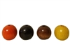 22MM Round Wood Beads (Small Hole) 8 ct. Bag