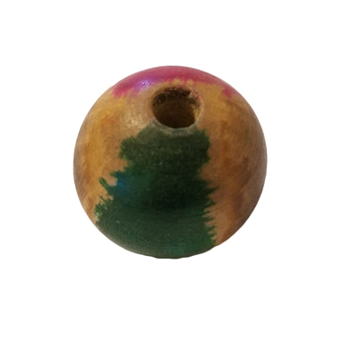 22mm Round Painted Wood Beads 4 ct. Bag