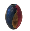 38mm Oval Painted Wood Beads 4 ct. Bag