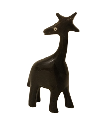 "3"" Hand-Carved Genuine Horn Giraffe Bead"