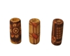 5x11MM Ethnic Patterned Tube Wood Beads 100ct Bag