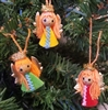 Pack of 12 Miniature Yarn Doll Angel Ornaments