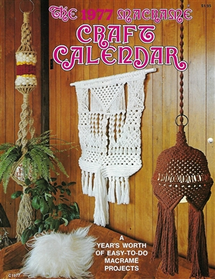 1977 Macrame Craft Calendar