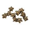 Star Shaped Silver Pewter Charms Beads, 10 ct