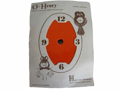 Orange O' Henry Ceramic Clock Face
