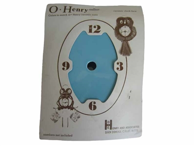 Blue O' Henry Ceramic Clock Face