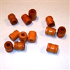 11MM Orange Wood Barrel Beads 12 ct. Bag