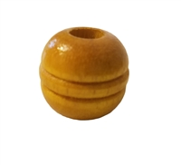 20MM Grooved Wood Beads 4 ct. Bag