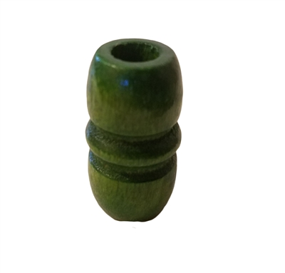 44x24MM Green Wood Beads 4ct. Bag