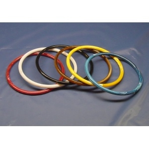 "7"" Round Plastic Rings 10 Ct. Bag"