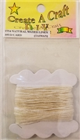 Create A Craft D.I.Y. 1 mm Natural Waxed Linen Craft Jewelry Cord 10 YD/Card