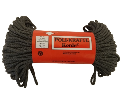 3mm Poli-Krafte Korde Braided Macrame Cord, 50 Yards