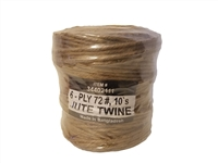 6 Ply #72 Natural Jute Twine 10 lb. Roll