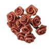 10mm (3/8 inch) Satin Ribbon Roses (144 pieces)