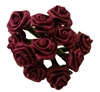 12mm (1/2 inch) Satin Ribbon Roses (144 pieces)