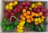 "Small Artificial Plastic Fruit on 3"" Wire Stems (144 pcs)"