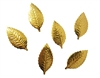Gold Foil Embossed Leaves (12 pcs)