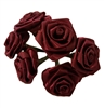 25mm (1 inch) Satin Ribbon Roses (72 pieces)