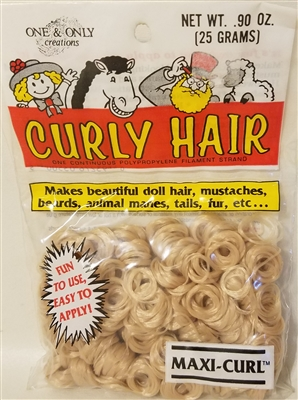 One & Only Creations Curly Doll Hair - Sandy Blonde
