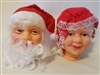Darice Mrs. Santa & Mr. Santa Claus Vinyl Doll Heads Set