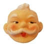 Miniature Santa Claus Vinyl Doll Mask (Pack of 12)