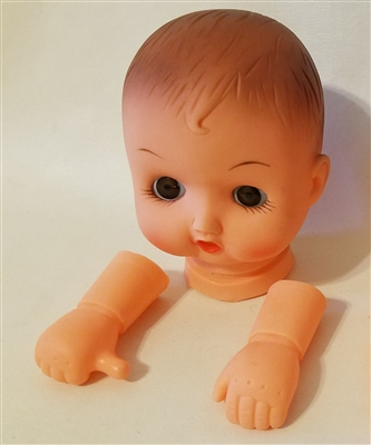 Large Baby Doll Head & Arms