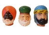 The Three Wise Men Vinyl Doll Heads Set