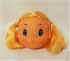 "2-3/4"" Blonde Doll Head with Blue Eyes & Kissing Mouth"