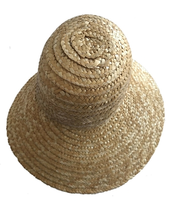 "9"" Natural Straw Wicker Bonnet for Dolls"