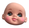 Baby with Anime Eyes Vinyl Rubber Doll Face Mask