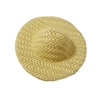 "1-3/4"" Ivory Wicker Sun Hat for Dolls"