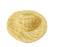 "2"" Ivory Wicker Sun Hat for Dolls"